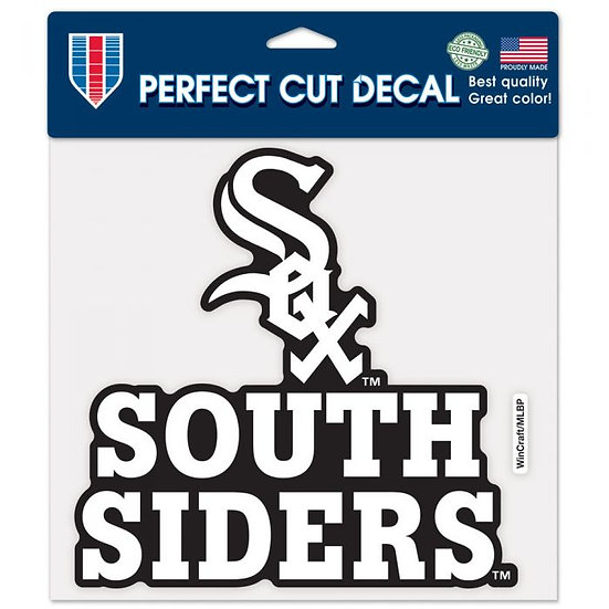 White Sox Perfect Cut Color Decal 8X8