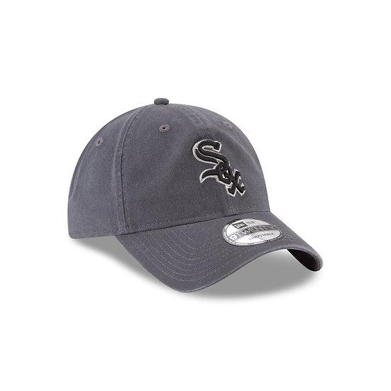 White Sox New Era Graphite Core Classic Black and White Logo Adjustable Cap