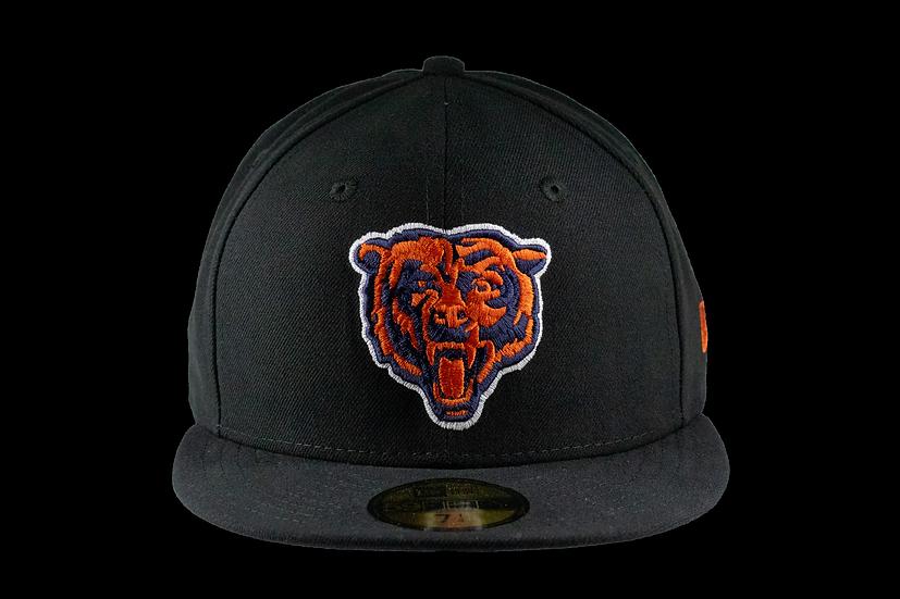 Chicago Bears Black Bear Head 59Fifty Cap by New Era
