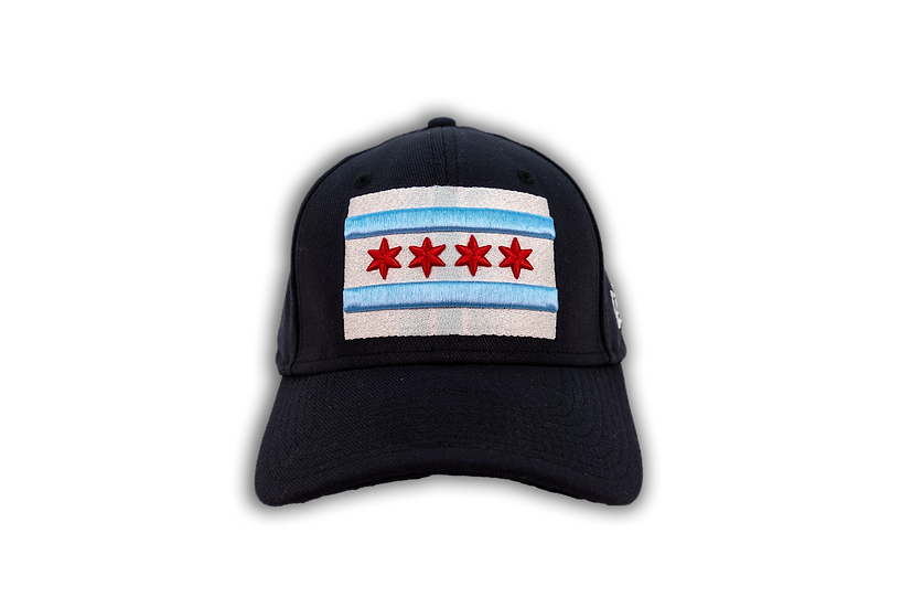 Chicago Flag New Era Full Color 39Thirty Stretch Cap