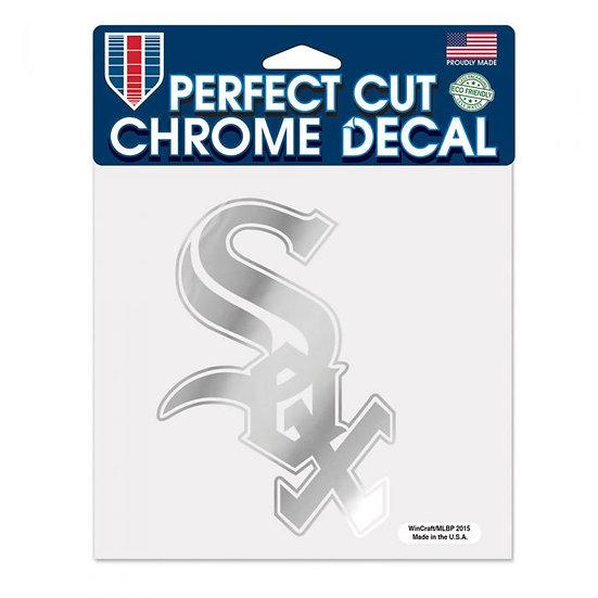 White Sox Perfect Cut Chrome Decal 8X8