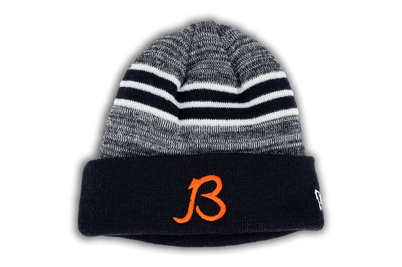 Chicago Bears New Era Marled Stripe Cuffed Beanie B Logo