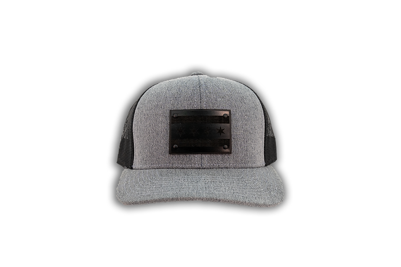 Chicago Flag Wood Patch Mesh Back Trucker