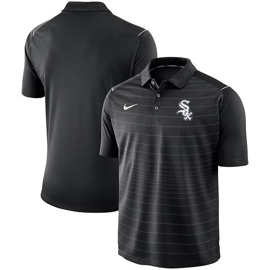 White Sox Nike Black Stripe Polo