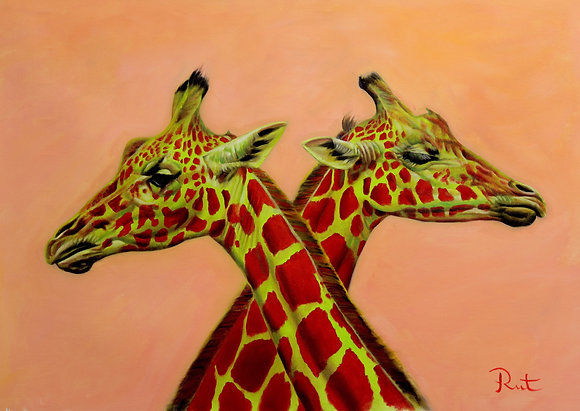 RED AND GREEN GIRAFFES