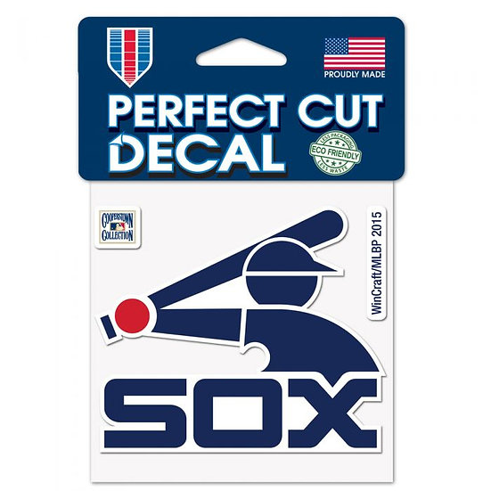 White Sox Perfect Cut Color Decal 4X4