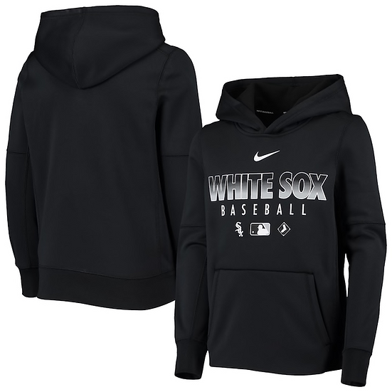 White Sox Nike Black Authentic Collection Fleece Performance Pullover Hoodie