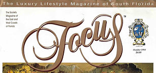 Artist Tomasz Rut featured in Focus - the Luxury Lfestyle Magazine of South Florida