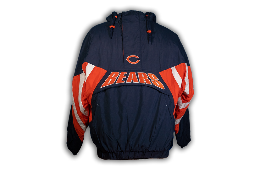 Chicago Bears Mitchell & Ness Flashback Pullover Jacket