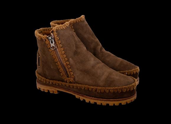 Cocoa Sheepwool VonZip Boot
