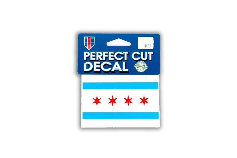 Chicago Flag 4 x 4 Perfect Cut Decal by Wincraft