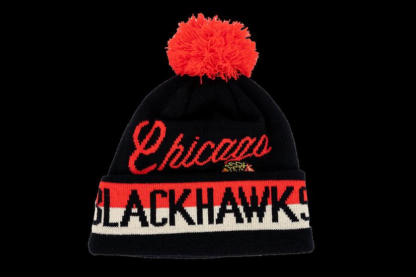 Chicago Blackhawks CCM Wordmark Cuffed W/Pom