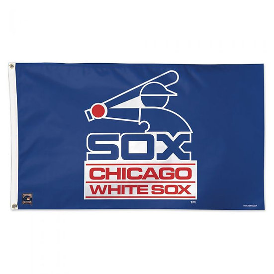 WHITE SOX COOPERSTOWN FLAG - DELUXE 3' X 5'