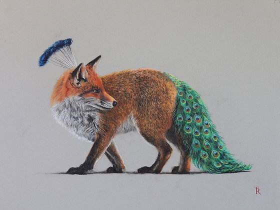 PEACOCK-TAILED FOX