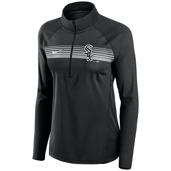 White Sox Nike Black Seam-To-Seam Element Half-Zip Performance Pullover