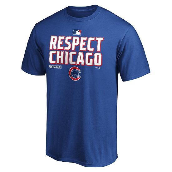 Cubs Fanatics Branded Black 2020 Postseason Locker Room T-Shirt