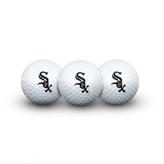 WHITE SOX 3 GOLF BALLS IN CLAMSHELL