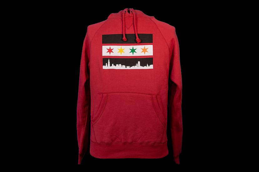 Chicago Flag Blackhawks Inspired Hoodie