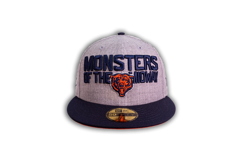 Chicago Bears New Era Monsters Of The Midway Heather Gray 59Fifty