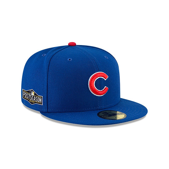 Cubs New Era Black 2020 Postseason Side Patch 59FIFTY Fitted Hat
