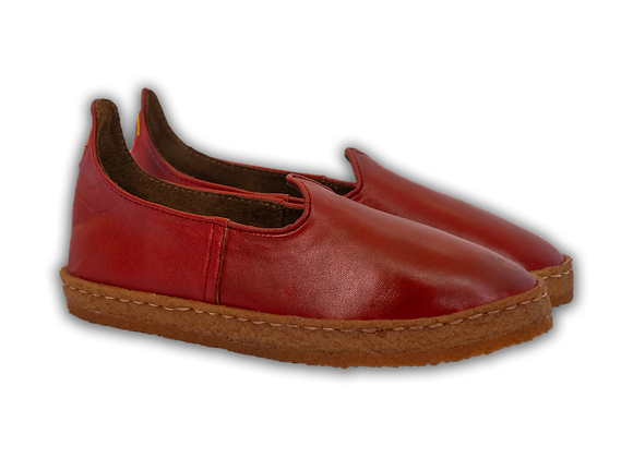 Karate Red Leather