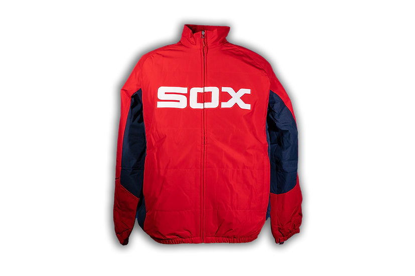 White Sox Majestic Double Climate Red 1983 Dugout Jacket