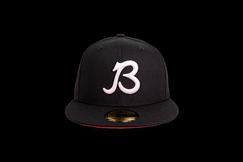 Chicago Bears New Era Black Script B w/orange undervisor 59Fifty