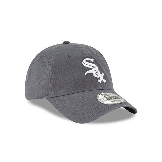 White Sox New Era Graphite 49Forty Core Classic Primary Logo Fitted Cap