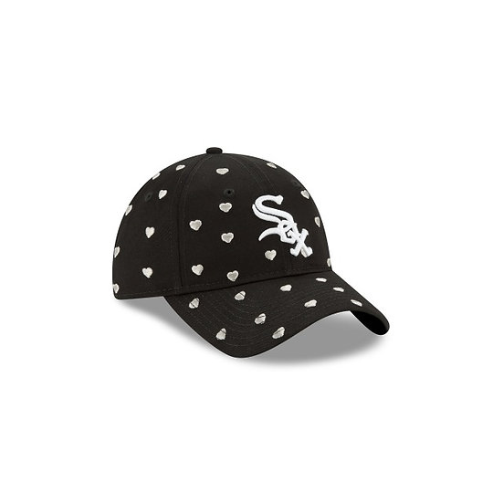 White Sox New Era Black Lovely Fan Kids Adjustable Cap