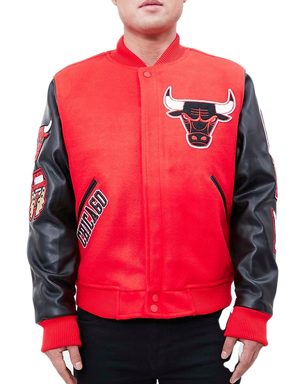 Chicago Bulls Varsity Red Wool/Leather by Pro Standard