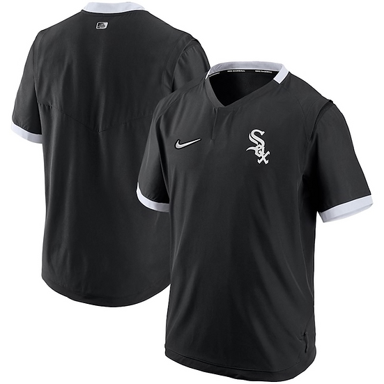 White Sox Nike Black/White Authentic Collection Short Sleeve Hot Pullover Jacket