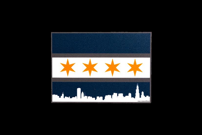 Chicago Flag Skyline w/Bears Colorway