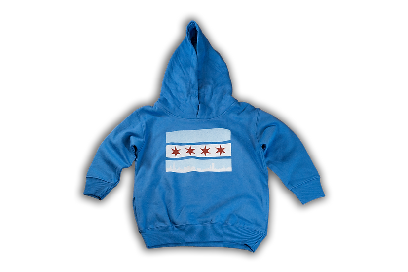 Chicago Flag Skyline Blue 84 Youth Hoodie