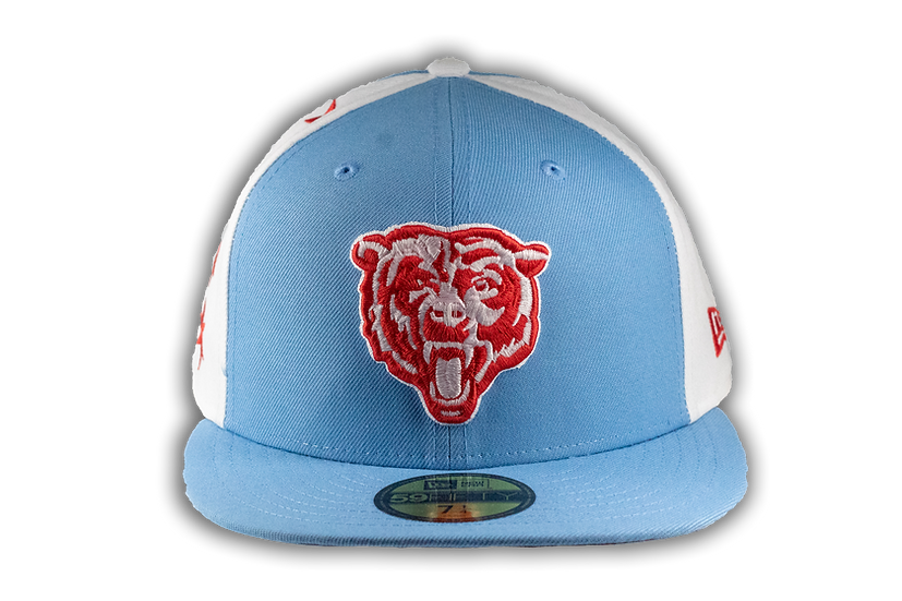 Chicago Bears Chicago Flag Colorway 59Fifty Cap by New Era