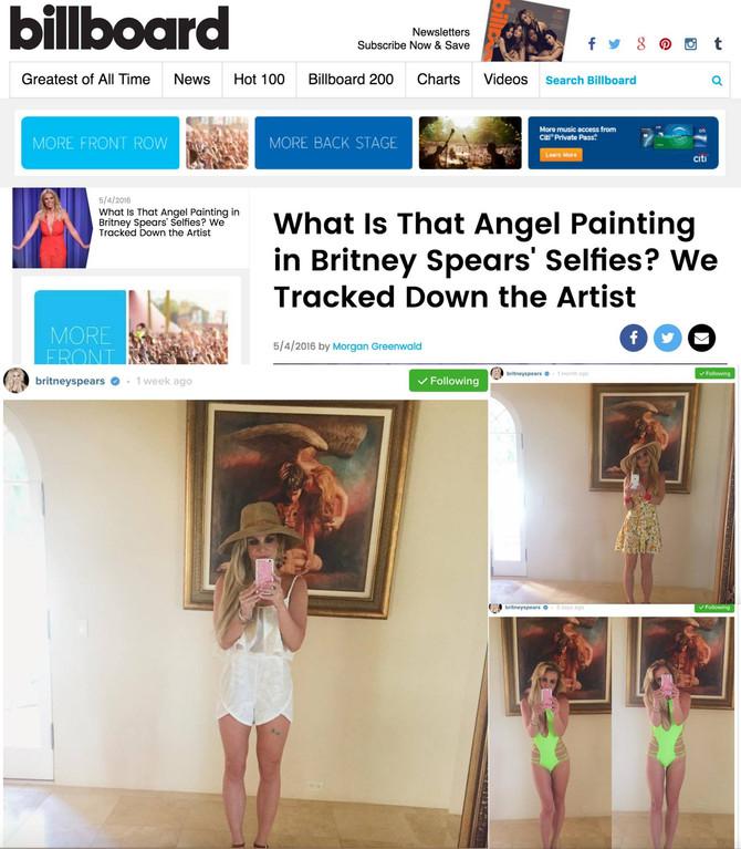 "Brittney Spears' selfies with ""Luminaris"""