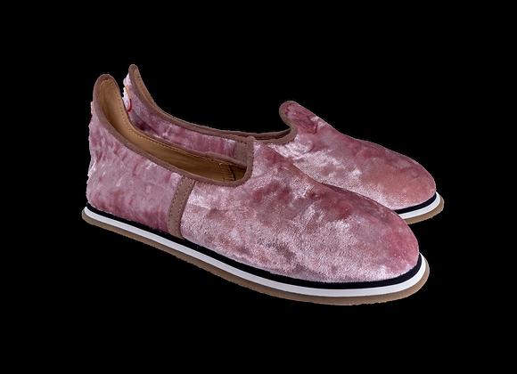 Pink Iced Crushed Velvet Baba
