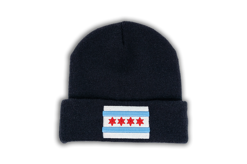Chicago Flag New Era Navy Cuffed Knit