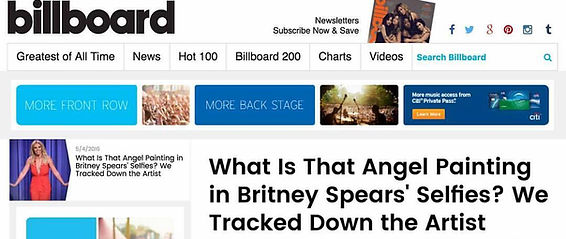 Artist Tomasz Rut featured in Billboard Magazine with collector Britney Spears