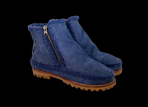 Blue Sheepwool VonZip Boot