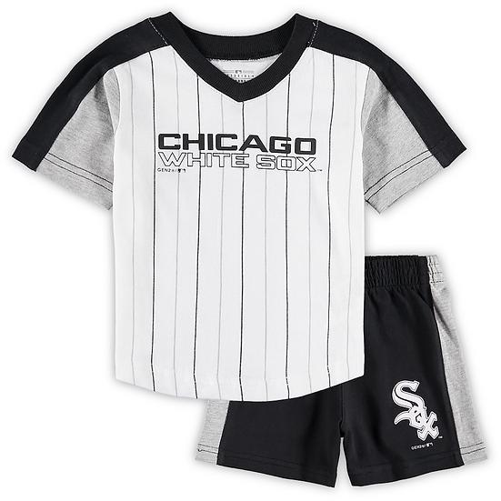 White Sox 2pc Colorblock Shirt & Short Set