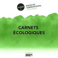 COUVERTURE CATALOGUE CARNETS ECOLOGIQUES