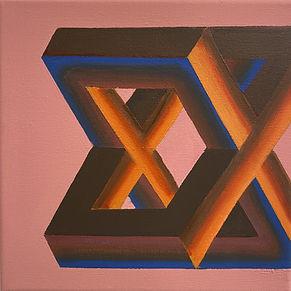 optical illusion art, israeli artist,img,double x, gradient art, typism art, font based art, borderline art,escape reality