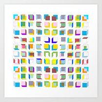 isometric art, hard edge art print, hard edge artist, colorfield artist, geometric art print, geometric artist, israeli art print, tel aviv art print, jessica moritz