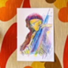jessica moritz, drawing my follower, drawing a friend, art in quarantine, covid-19 art, tel aviv art, colorful portrait, hockney, img,jpeg