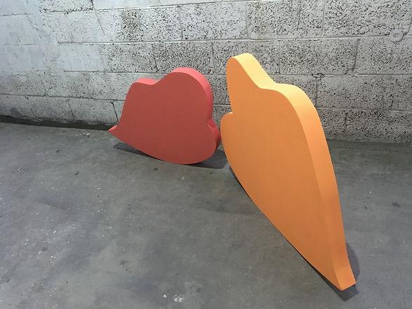 alone together, img, installation art, abstract icon, israeli artist, lips vector art, 3D art, 3D installation, color theory art,jessica moritz, jeszmo_art
