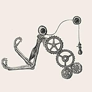 bio mechanical drawing, bones and flesh, surrealism illustration, dark ink