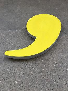 visual poetry, text installation,concrete design art, punctuation design, typo art, minimal interior design