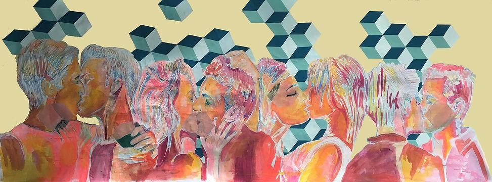 jessica moritz, love pattern,painting,contemporary art, israel,france