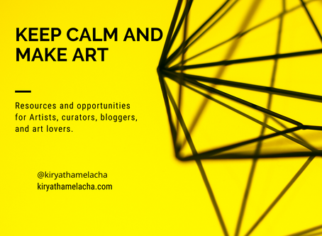 Artist Support, opportunities and resources for Artists//keep calm Make Art