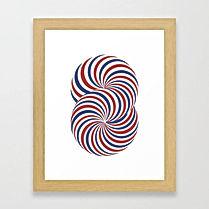 torus, blue and red, sacred geometry, circle art, art prints,israeli artist, israeli art for sale